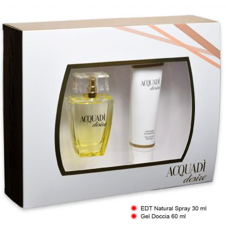 Acquadi' coffret desire edt 30 ml + shower gel 60 ml