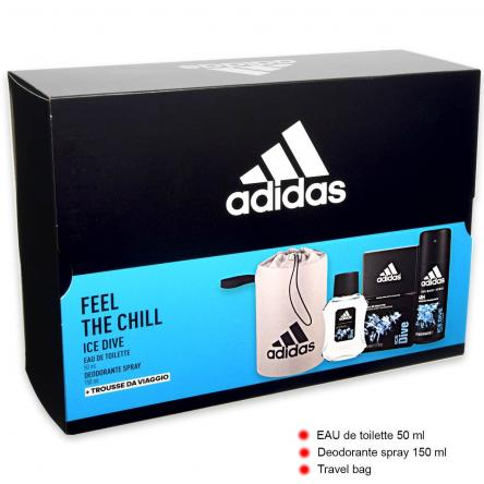 Adidas coffret ice dive edt 100 ml + deo + pochette