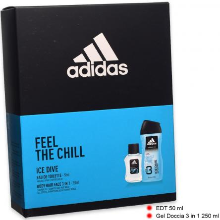 Adidas coffret edt 50 ml + shower gel 250 ml ice dive