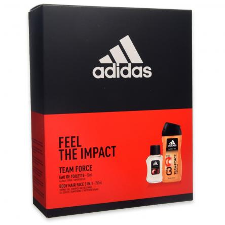 Adidas coffret edt 50 ml + shower gel 250 ml team force