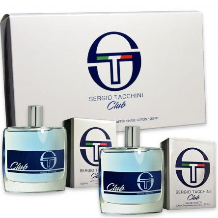 Coffret sergio tacchini club edt 100 ml + after shave 100 ml