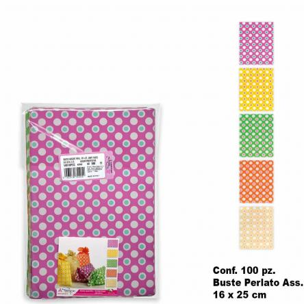 Buste bubbles colori  ass. 100 pz. 16 x 25