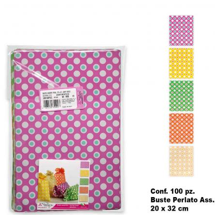 Buste bubbles colori ass. 100 pz. 20 x 32