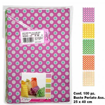 Buste bubbles colori ass.  100 pz. 25 x 40