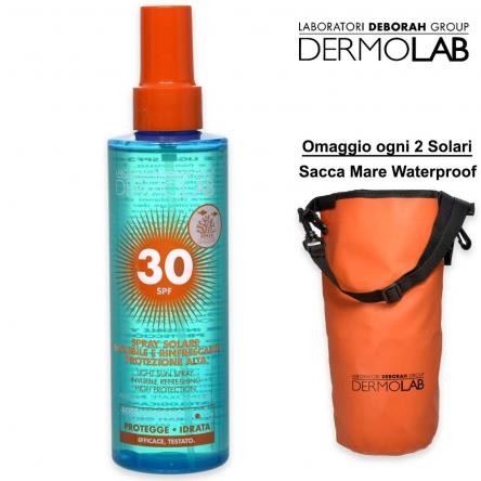 Dermolab solari spray solare invisibile 200 ml spf 30
