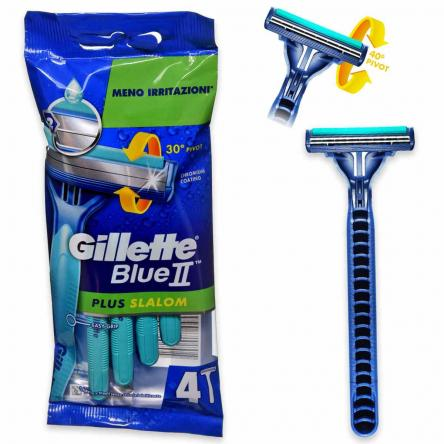 Gillette blue ii plus slalom 4 pz